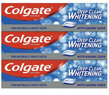 3 X 100 ml Colgate Toothpaste Deep Clean Whitening with Baking Soda Whitening