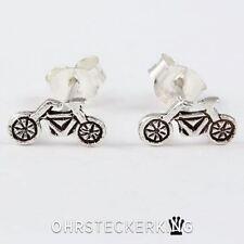 Ohrstecker Fahrrad klein Echt Silber (925-Silber) Neu