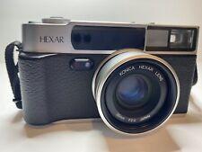 Mint Konica Hexar Af Silver 35mm Rangefinder Film camera from Japan Pristine