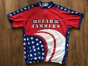 Mens Verge Gear Jammers Cycling Jersey Red/Blue Size XXL