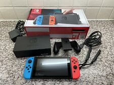 Nintendo Switch V1 Console with Joy-Cons neon Red & Blue Complete Boxed