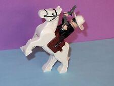 Western Cowboy Indian Lone Ranger Movable Leg White Horse Lego Minifigure Pistol