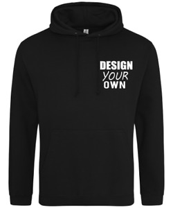Design Your Own Logo Hoodie Workwear Gift Personalised Custom Jumper Quality