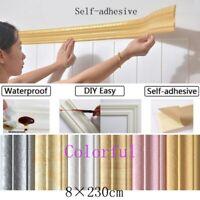 3D Self-adhesive Decor Wall Molding Skirting Mural Border Sticker Waterproof