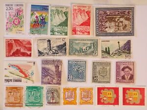 Collection of stamps ANDORRA off paper, 21 stamps as shown