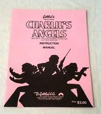 Gottlieb Charlie's Angels (Ss) Pinball Machine Original Manual & Schematics Nos!