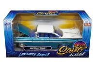 Jada 1/24 STREET LOW 1959 Chevrolet Impala Lowrider Series White-Top Blue 98923