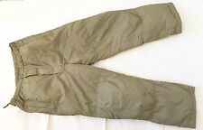 NEW British Army-Issue Light-Olive PCS Thermal Trousers. Medium Size.