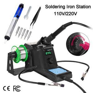 Digital Soldering Iron Station Kit SMD Desoldering Welder Variable Temperature