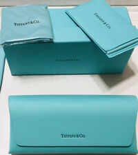 Tiffany & Co. Eyeglass Sunglass Case With Cleaning Cloth And Certificate