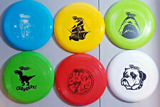 New Lot Wham-o Frisbee Discs Astronaut, Pirateship, Bulldog, Shark, Pizza, T-Rex