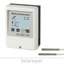 Solarbayer Einkreis-Solarregler SC 0301 HE Solarsteuerung Solar-Differenzregler