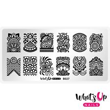 B027 The Art of Henna Stamping Plate For Stamped Nail Art Design