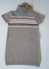Crazy 8 Gray Pink Fair Isle Sweater Dress 3T New with tags