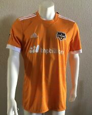 Adidas Houston Dynamo Jersey Authentic Home Orange Mens Size L