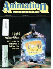 Animation Magazine V4 #4  Uncirculated 1991 Warehouse Inventory Liquid Televison