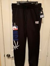 Mens Nba Basketball Sweat Pants Black Large New Authentic