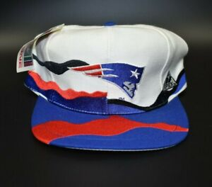 New England Patriots Vintage 90's Apex One Swirl Snapback Cap Hat - NWT