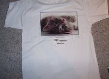 Women's cat shirt Beautiful Green Eyed Kitty on white  T Shirt NWOT Size Large