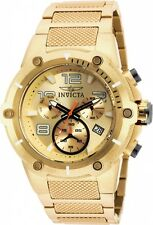 Invicta Men's 52mm Speedway Chronograph Champagne Dial Gold IP Watch 19529