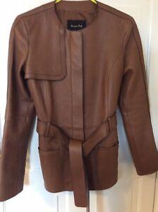 Massimo Dutti Beautiful Leather Jacket Size XS New Without Tags