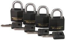 "Master Lock 131Q 1-3/16"" Brass Weatherproof Padlock 4 Count"