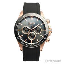 New Hugo Boss Men 44mm IKON Roes Gold Chronograph Watch 1513342 $385