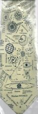 Nuclear Physics Scientist Teacher Student Polyester Tie Sleeved With Hook Cream