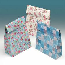 Small Gift Bags x 12 Paper - Ditsy Floral Party Wedding Favour - Vintage Style