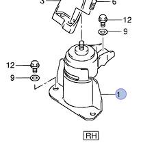NEW Genuine Suzuki SWIFT 2005-2010 Engine Mount Right Hand Driver 11610-62J01