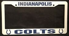 INDIANAPOLIS COLTS NFL AUTO PLASTIC LICENSE PLATE FRAME FREE SHIPPING NEW
