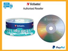 Verbatim Rewritable Blank DVD DVD-RW 30 Disc Pack Spindle 2x speed  Pn: 95179