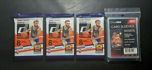 2020-21 Panini NBA Donruss Basketball 3 Packs 8 count & 1 Pack 100 count Sleeves