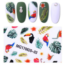 Toucan Adhesive 3D Nail Sticker Tropical Bird Transfer Decal Manicure Decors zb2