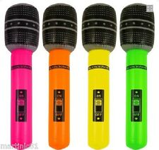 2 X BIG INFLATABLE BLOW UP MICROPHONE MIC HEN KARAOKE FANCY DRESS PARTY STAG DO