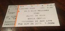 Kiss Alive 35 Tour Ticket Honda Centre Nov 24th 2009