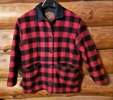 Vintage Woolrich Red Buffalo Plaid Wool Barn Jacket Coat Men's L USA