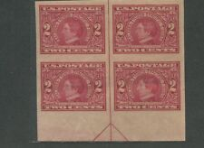 Block of 4 USA 2 Cent Stamps #371 Alaska Yukon William H. Seward - Brookman $155