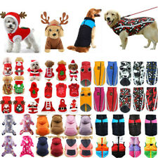 Christmas Fancy Pet Dog Hooded Rain Coat Jacket Puppy Winter Warm Sweater Jumper