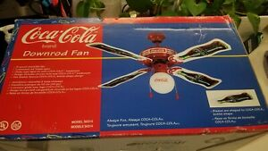 Collectors Coca-Cola Downrod Ceiling fan with Light 1998
