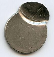 1991-P Jefferson 5c Nickel 75% Off Center at K-11 + Uniface Reverse AU