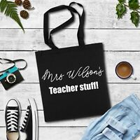 Personalised Teacher Present, Gift for Teacher, fun teacher stuff tote bag