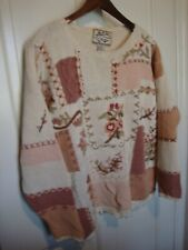 Vintage HEIRLOOM COLLECTIBLES Women's L Multicolor Knit Pull Over Sweater    308