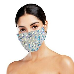 1 x New Dazzle - Face mask with sequins - Party Face Mask /Face Covering