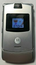 READ FIRST Motorola RAZR V3 Silver (UNLOCKED) T-Mobile Cell Phone Good Used
