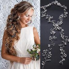 1M Long Bride Pearl Crystal Hair Vine Headband Tiara Wedding Crown Headpiece  NEW 4d0db84aadb0
