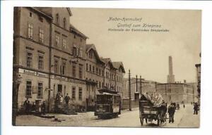 XX14118/ NIeder-Hermsdorf Haltestelle der elektr. Straßenbahn AK 1922 Schlesien