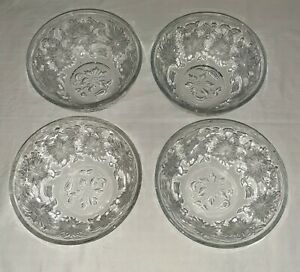 """Princess House Fantasia Lot of 4 Coupe Soup Bowls 5 1/4"""" Use for Cereal, Dessert"""