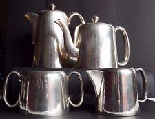 Sheffield Silver plated Hard Soldered 4 p Set Tea Coffee Pot Milk jug Sugar bowl