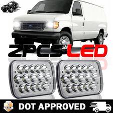 Pair DOT LED Projector Headlight For E-150 E-250 E-350 Econoline Club Wagon